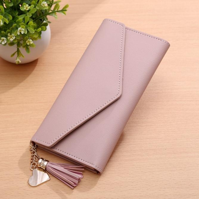 2017 the new women wallet triangle pendant, flip wallet card wallets, ladies clutch with PU leather Кошелёк