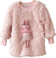 2016 Autumn Winter  New Arrival Thicken Cute Rabbit Decoration Sweater Girls Sweatshirt Moleton Meninas Sudaderas Minos KF506
