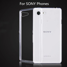 For Sony Xperia XZ1 Case Silicone Compact Transparent Original TPU Cover Etui Clear Soft White Coque Fundas