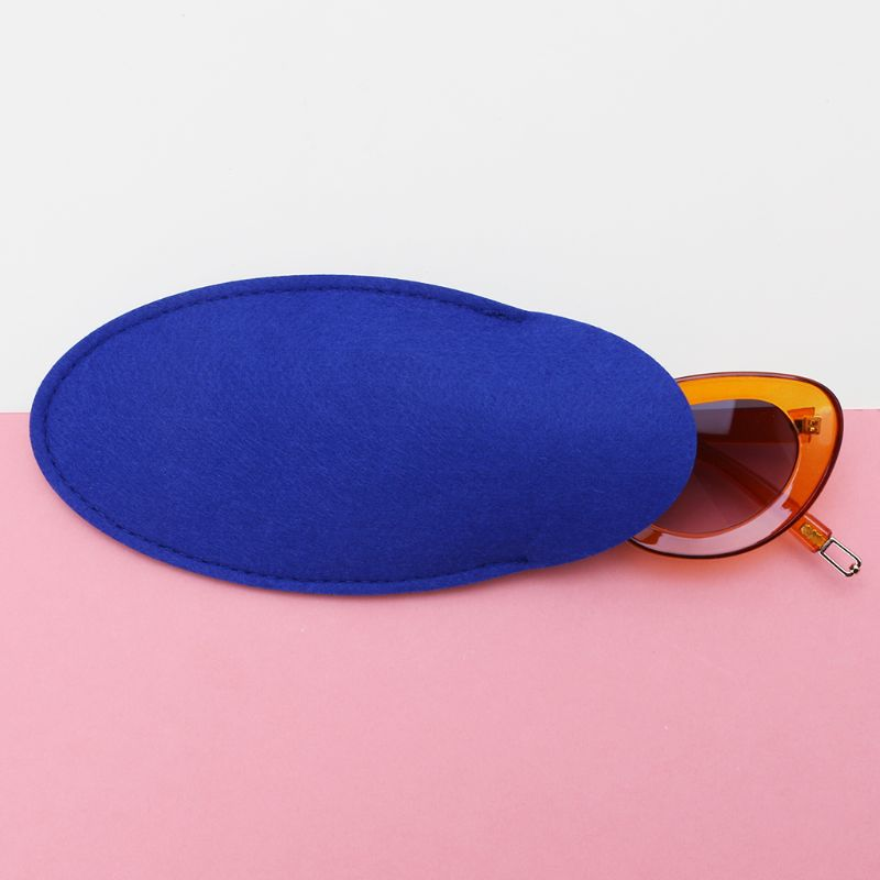 New Glasses Bag Felt Oval Shaped Protective Storage Soft Top Grade Case Portable Apparel Accessories Men's Glasses