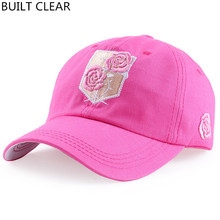 (BUILT CLEAR) 2017 Rose embroidered high quality sports hat, female outdoor golf baseball cap, sudden back woman hat