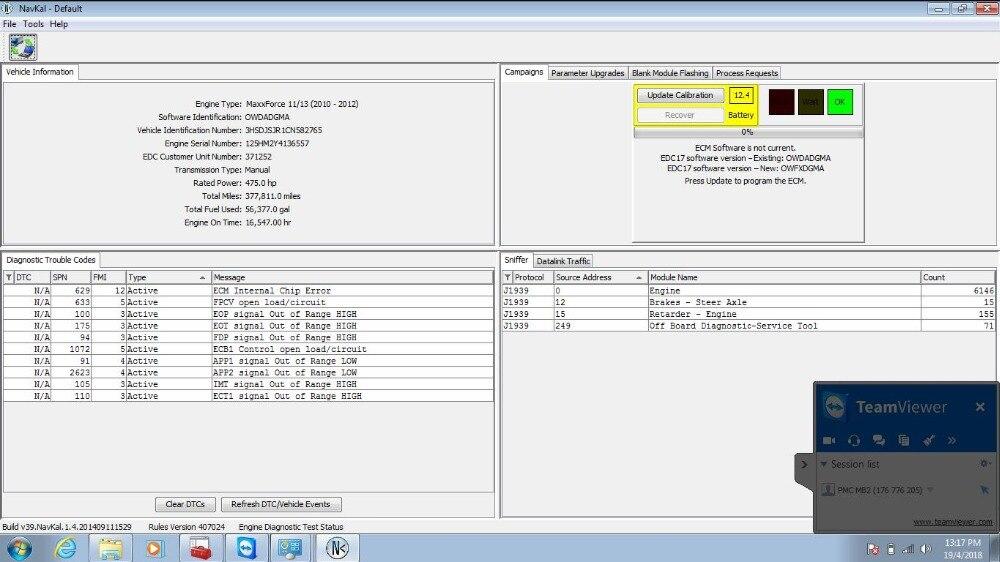 US $150 0 |Navkal 2018 offline version + file for DELETE DPF MAXXFORCE 13  EPA 10+Instructions+Flash+restore factory setting ECM +keygen-in Software
