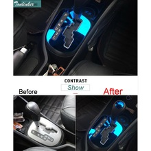 Cover Case Sticker For KIA K2 RIO 2011-16 Car Styling 2 pcs stainless Steel/ABS interior gears pedal Stand head cover Sticker цена 2017