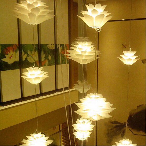 Aliexpresscom Buy Hanging Lamps For Dining Room Pp Lotus Flower