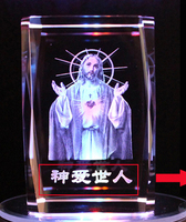 2017 Christmas BEST business present limited edition Christianity Jesus Christ 3D Crystal Image Decoration