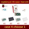 Em estoque 2016 nova raspberry pi 3 pcakage inclui Raspberry PI 3 modelo pi B + caso + dissipador de calor 3 com WI-FI e bluetooth
