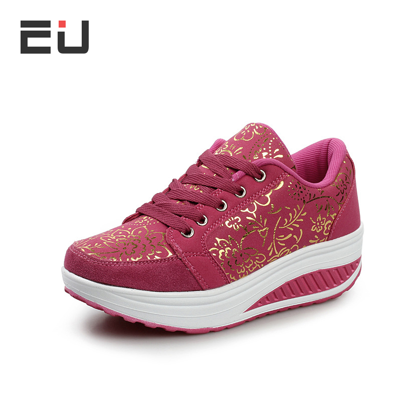 Outdoor Ladies Running Shoes s Swings Breathable Sports Shoes Non Slip Thick Bottom Ladies Wedges Running Sneakers ...
