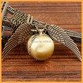 Новинка гарри поттер кварцевые часы бронзы год сбора винограда панк стимпанк карманные часы паровоз кулон ожерелье цепь часы