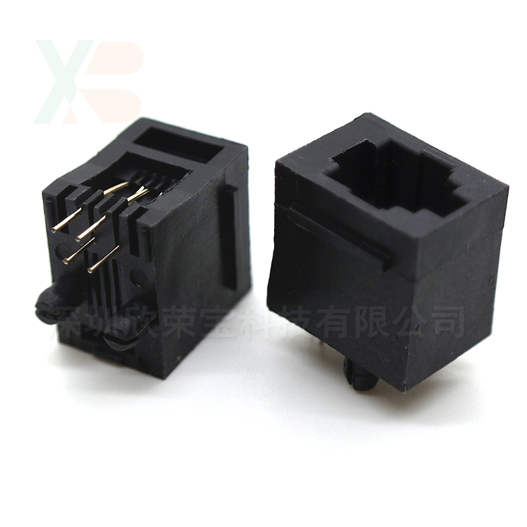 10PCS/Lot RJ11 Socket Telephone Socket 52-4P 180 Degrees 6pin Crystal Female 4p4c Socket10PCS/Lot RJ11 Socket Telephone Socket 52-4P 180 Degrees 6pin Crystal Female 4p4c Socket