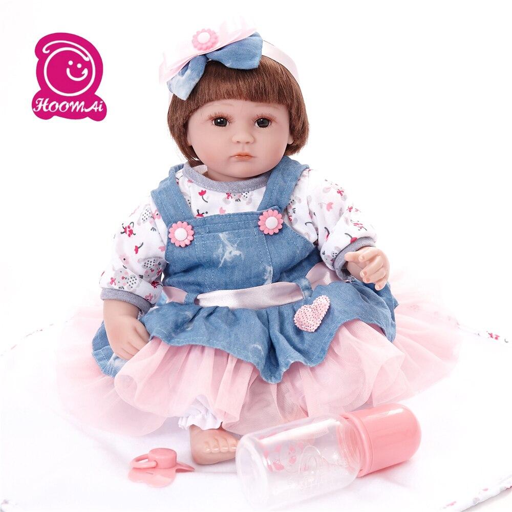 45CM Reborn bébé Silicone vinyle tissu corps poupées Action Figure jouets belle bébé cadeau enfants jouets Reborn poupée vache fille poupée cadeaux