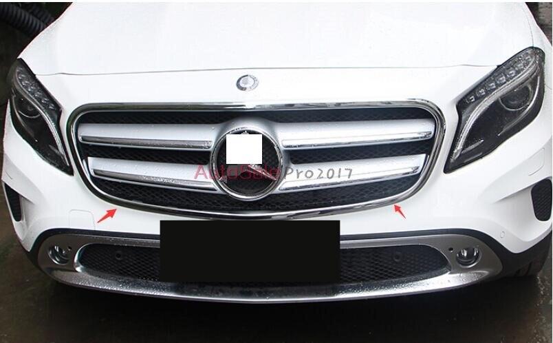 Pour Mercedes Benz GLA X156 2014 2015 ABS Chrome avant Grille centrale cadre cadre décoration garniture