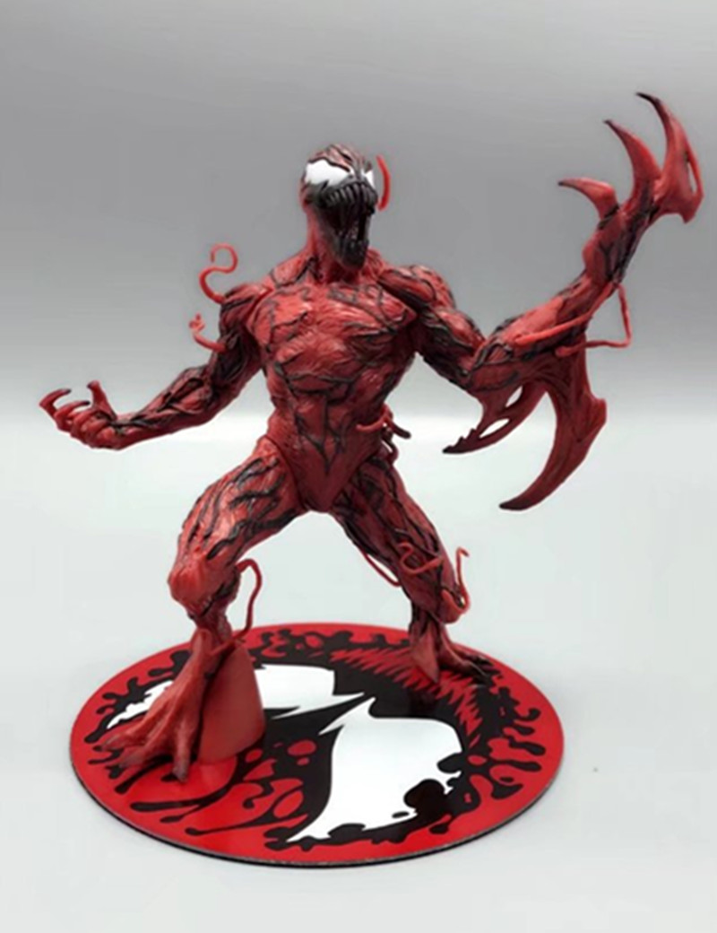 QICSYXJ Birthday Gift Supply Marvel Superhero Action Figure Collection 16cm The Amazing Spider Man Cletus Kasady Carnage Model the amazing spider man venom cletus kasady carnage pvc action figure toy spiderman villain venom collectible model toy gift n038