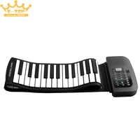 PA88 88 Tasti MIDI Flessibile 140 Toni Elettronico Roll Up Pieghevole Pianoforte Built-In con Batteria