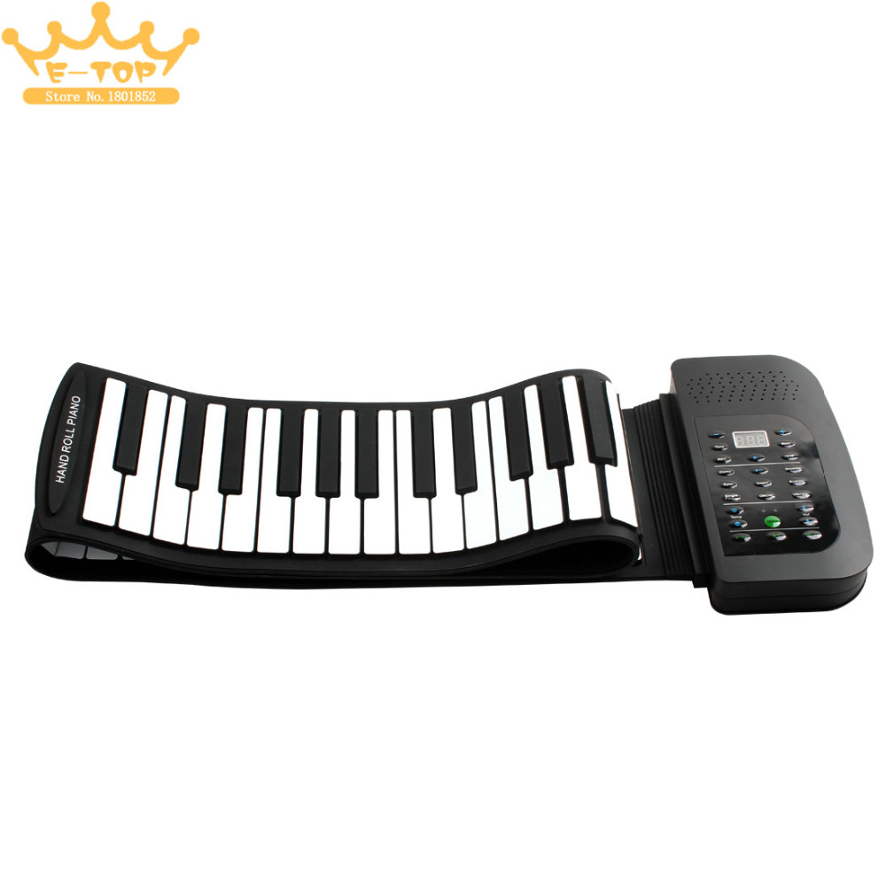 PA88 88 Keys MIDI Flexible 140 Tones Electronic Roll Up Folding Piano Built-in Speaker with Battery pa88
