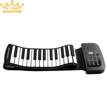 лучшая цена PA88 88 Keys MIDI Flexible 140 Tones Electronic Roll Up Folding Piano Built-in Speaker with Battery