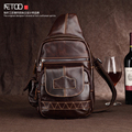 AETOO new first layer of leather tide men chest bag fashion leisure pockets retro leather shoulder bag