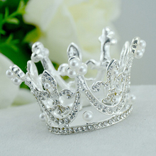 tiaras and crowns Wedding Tiara for women Crown Bridal Pearl Rhinestone Tiaras Mini Round Full Circle Bridal Hair Accessories