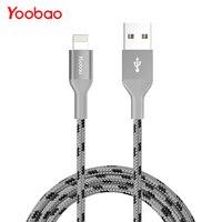 Yoobao YB-415 MFI 2.1A Lightning нейлон 8 булавки мобильного телефона кабель быстрой зарядки USB кабель для iPhone 5S 5 7 iPad