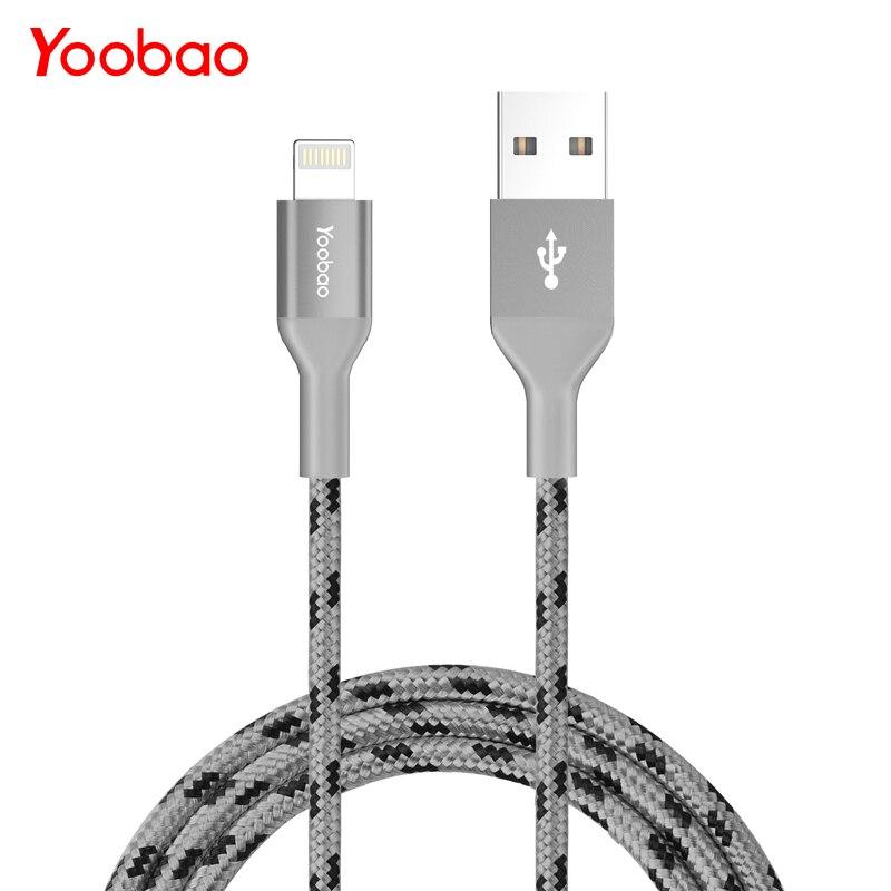 Yoobao YB-415 MFI 2.1A un rayo de 8 Pin teléfono móvil Cable de carga rápida USB cable USB Cable de datos para iPhone 5S 5 7 iPad