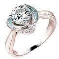 Flower Halo Moissanite Jewelry 9k White Gold 0.5CT Round Cut Test Positive Lab Grown Diamond Romantic Wedding Engagement Ring