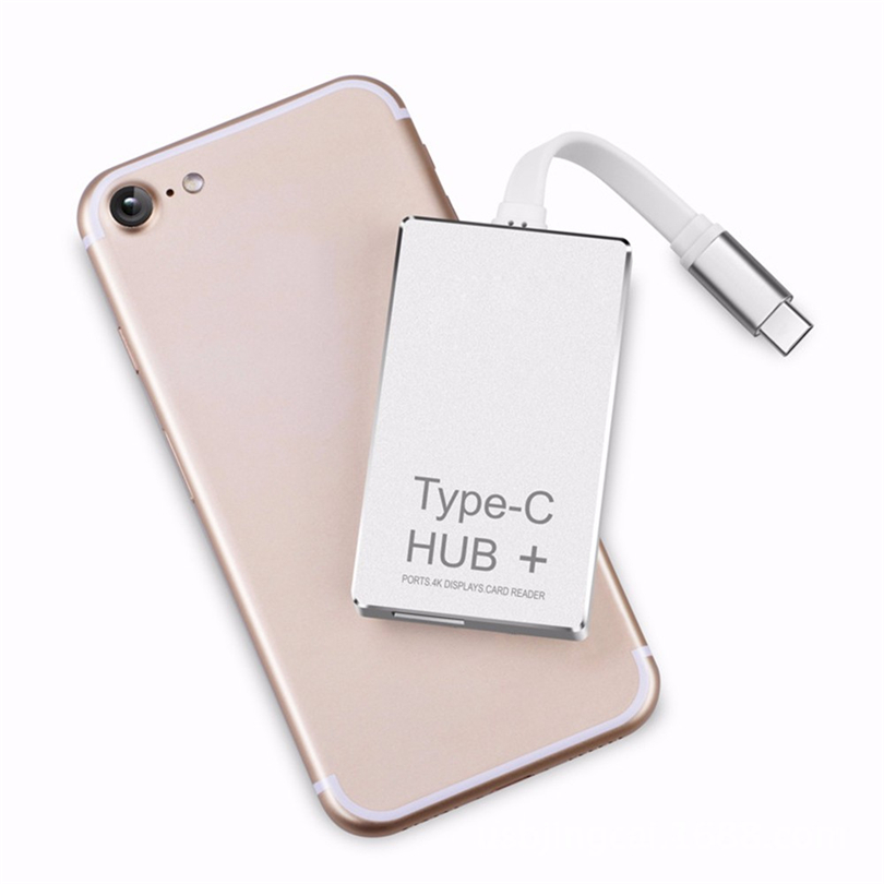 6 in 1 USB C Hub Type C Charging Power Delivery HDMI 4K SD/TF Card Reader for SD card Micro SD card 3.0 card conector Adapter A3