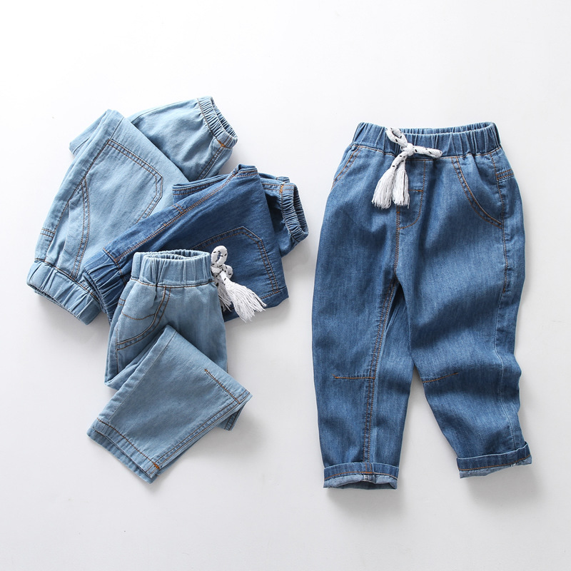 04d3cd64 Boys Jeans Spring Summer thin Kids Jeans Clothing Casual Baby Girl Denim  Infant Trousers Boy children's