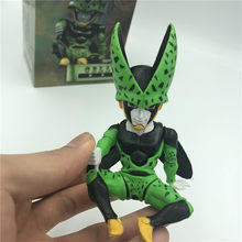 Dragon Ball Z Zelle Q Verachten Ver. Ultimative Form Sitzen Goku Schlacht Soldaten Awakening DBZ PVC Action Figure Sammlung 12c(China)