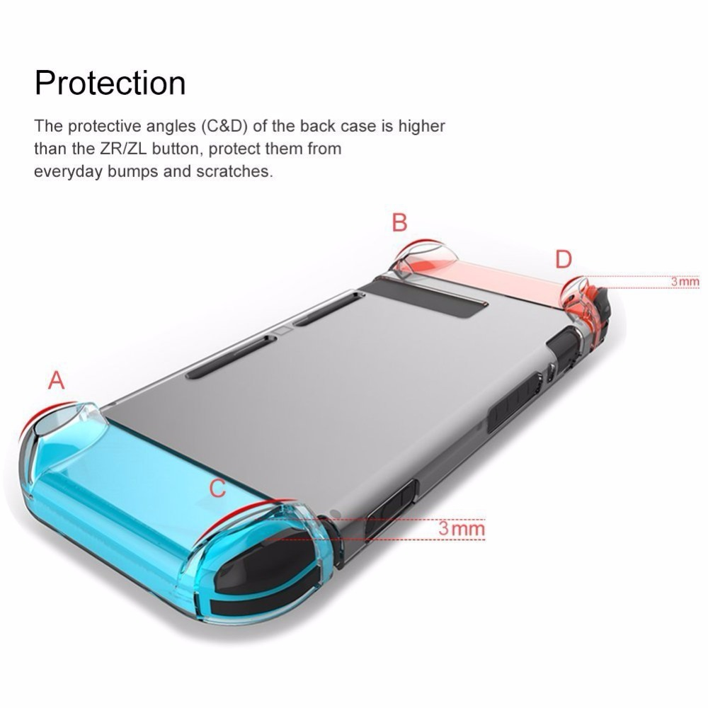 Купить с кэшбэком Dockable Ultra Thin Protective Crystal Clear Shell Cover PC Transparent Shell Case For Nintend Switch NS NX Fit the Docking