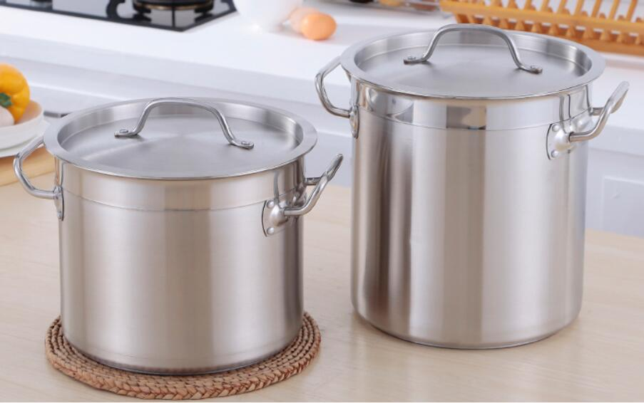 Induction cooker gas stove universal soup pot 304 stainless steel 8L~118L household thickening bottom cooker