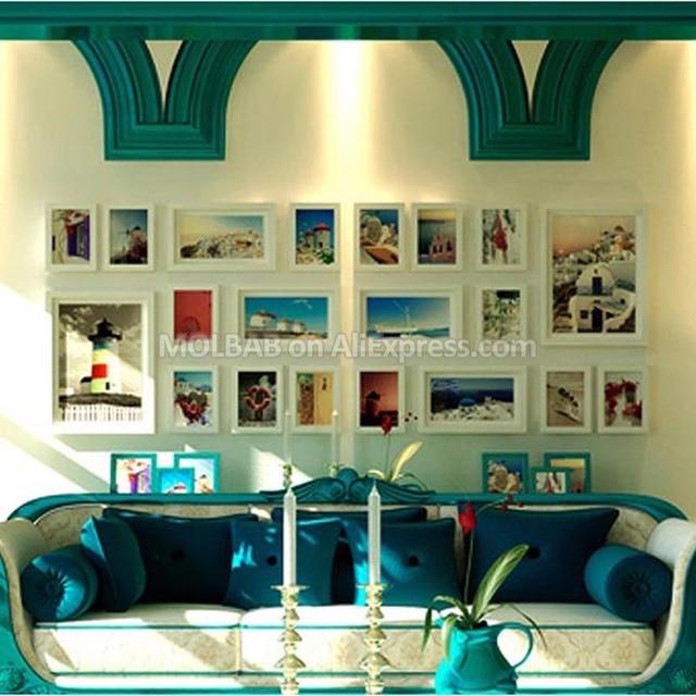 MOLBAB Large Modern Style Wood Photo Frame Gallery Wall 20PCS/Set ...