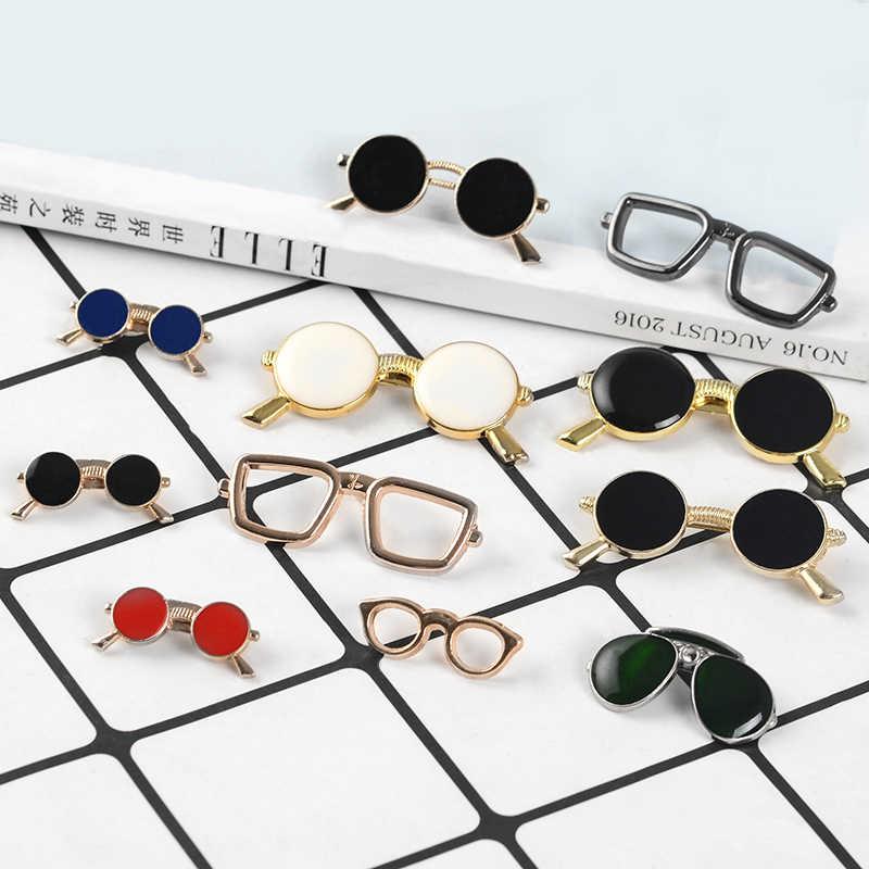 Sven gözlükleri serin güneş gözlüğü pimleri geometrik yuvarlak siyah gözlük emaye broş tişört çanta yaka Pin rozeti kadın erkek takı