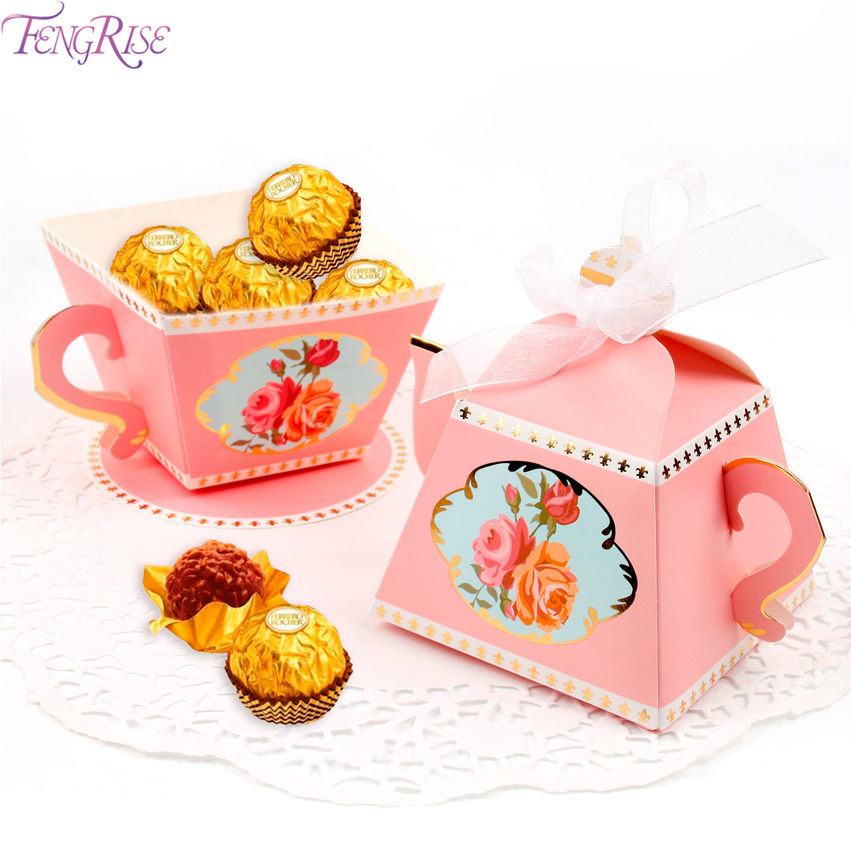 FENGRISE 40pcs Animal Candy Box Baby Girl Boy Party Favors Wedding ...