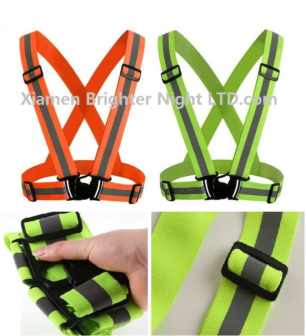 5*1.5cm High quality outdoor ridling sport reflective traffic vest elastic ribbon reflective vests