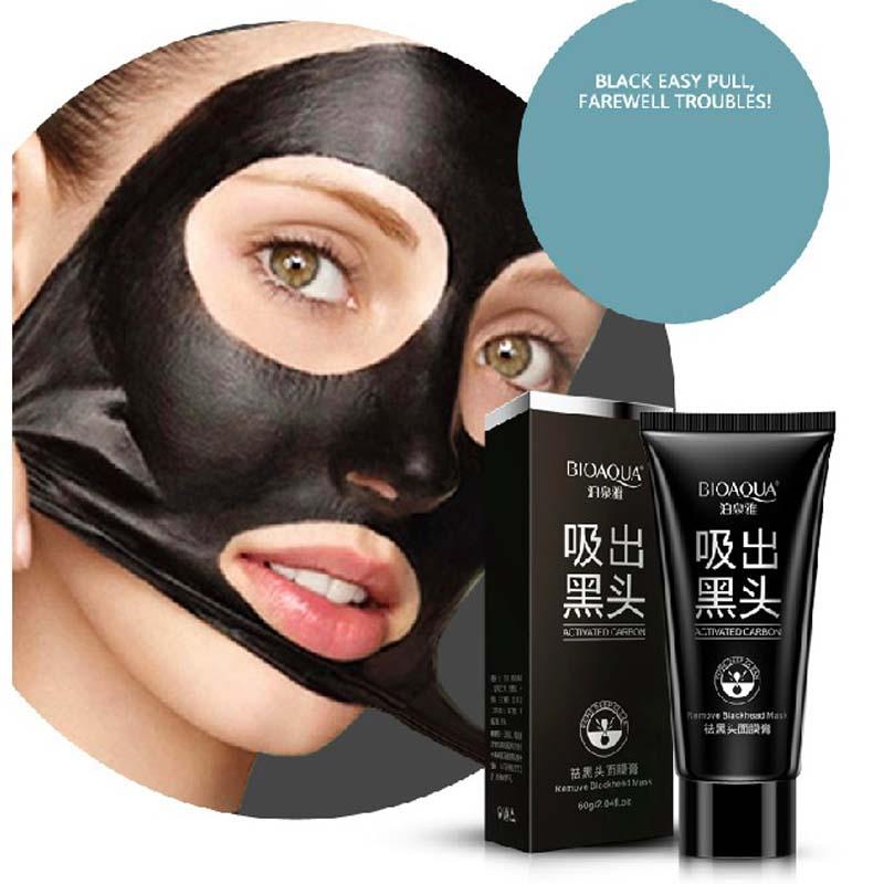 Deep Cleansing Face Care black Mask Conk Nose Blackhead Remover Mask Peeling Pore Cleanser Black Head Pore Strip Health Care