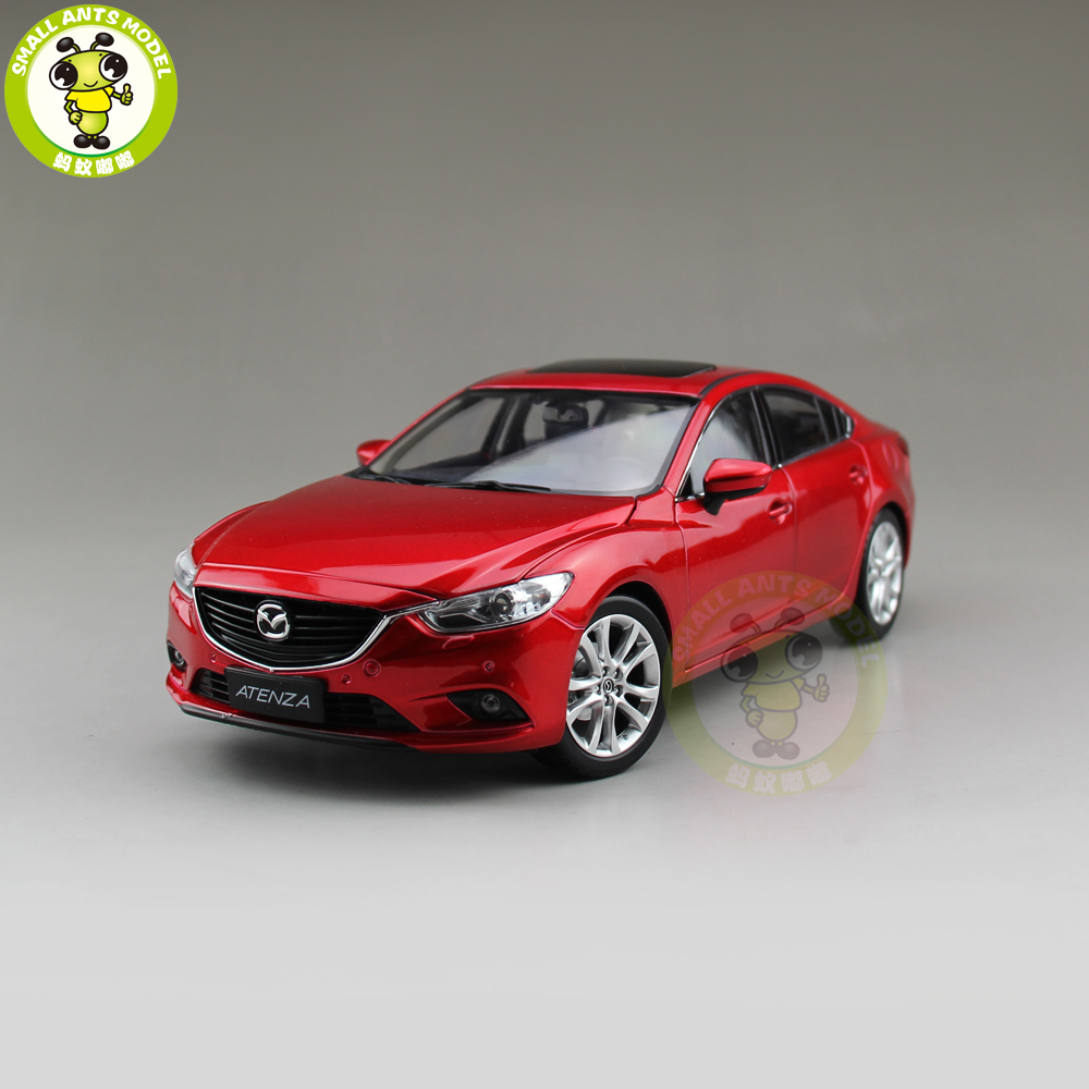 1/18 Mazda 6 ATENZA Diecast Car Model Toy Boy Girl Gift Collection Red red 2014 1 18 mazda 3 axela hatch back diecast model car mini model car kits 2 colors available limitied edition