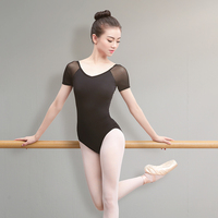 Adult Ballet Dance Leotard Costume Female Exercise Clothes Sexy Backless Elastic Mesh Tights Gymnastics Tops For Women DL2656