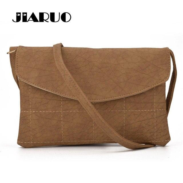 fd282c9bb1e5 JIARUO Women Leather Envelope bag Shoulder bags Thread Plaid Ladies  Crossbody Messenger bags Satchel Handbags Women