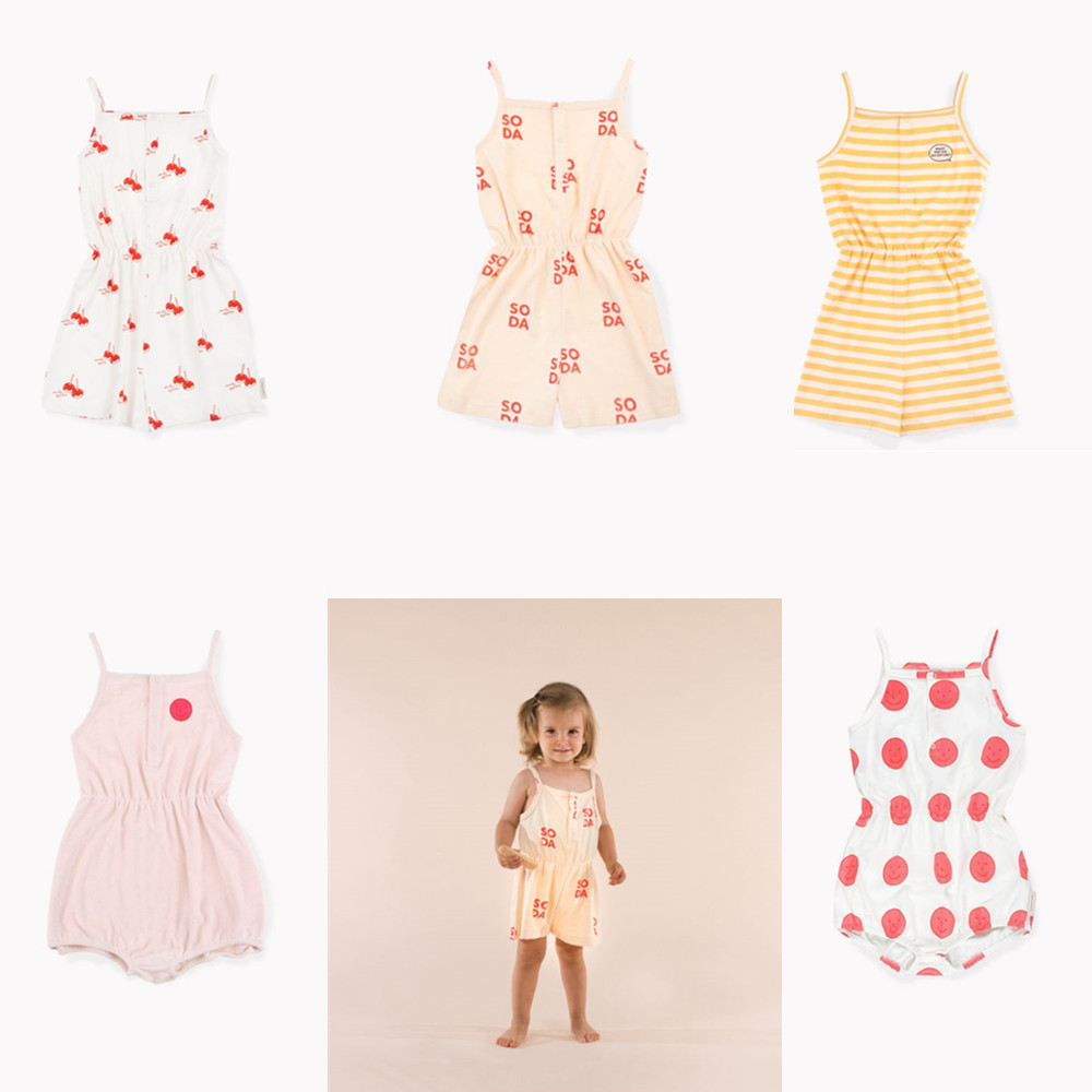 Pre-sale Infant Baby   Rompers   Boys Girls Clothes Tinycottons 2019 Kids One Pieces Jumpsuits Baby Short Sleeve Printed   Romper