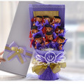 2016 New Arrival, Graduation Party Queen Grad Photography Props Decoration,Purple  Holding flowers Gift Box,Graduation Gift
