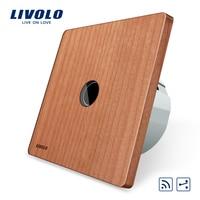 Livolo Original EU Standard 1Gang 2 Way Remote Switch Wireless Switch VL C701SR 21 Cherry Wood