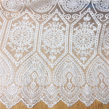 1yard/2yards white wedding lace fabric French African embroidery for accessories Wedding dress clothes MT59