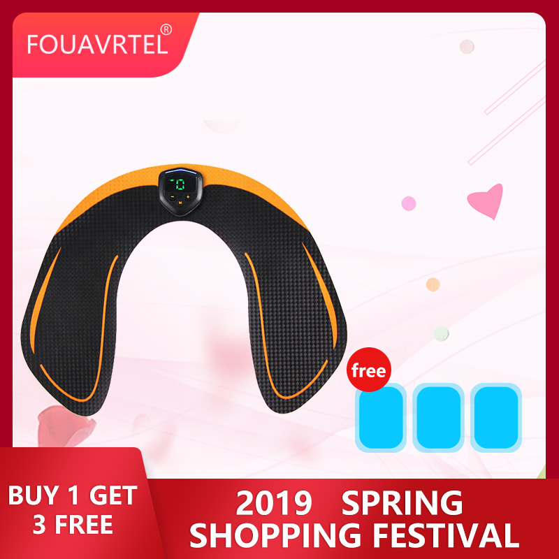 FOUAVRTEL Hip Muscle Training Exerciser EMS Wireless Butt Trainer Massager Weight loss Body slimming Massage Smart Fitness ems hips trainer