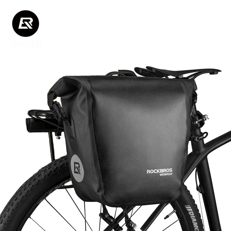 Rockbros MTB Bicycle Bag Pannier Bike Rear Rack Bag 18L Multifunctional Waterproof Mountain Bike Accessories Cycling Travel Bag
