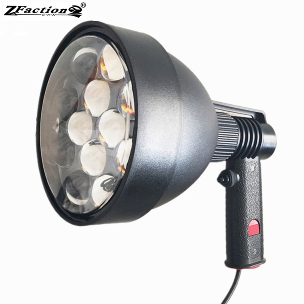 Ultra Bright LED Hunting Lamp Farming Light 5400LM High Powerful 60W LED Handheld Spotlight For Marine