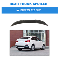 For BMW F26 X4 2014 2017 PSM Style Rear Trunk Lip Spoiler Carbon Fiber Rear Wing Boot Lid