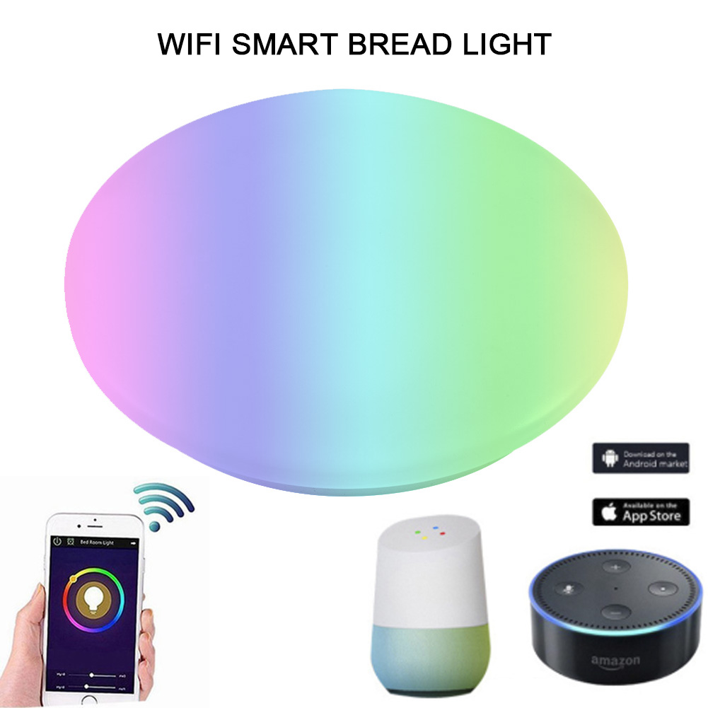 Round Led Ceiling Light Smart App Bluetooth Wifi Control Lamp Support For Amazon Alexa & Google Home Mdj998