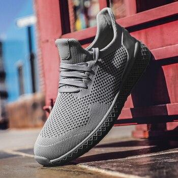 8ad2a3bd Мужская обувь 2019, кроссовки для мужчин, уличная дышащая удобная мужская  обувь, летняя модная повседневная обувь, мужская обувь, Zapatos De Hombre