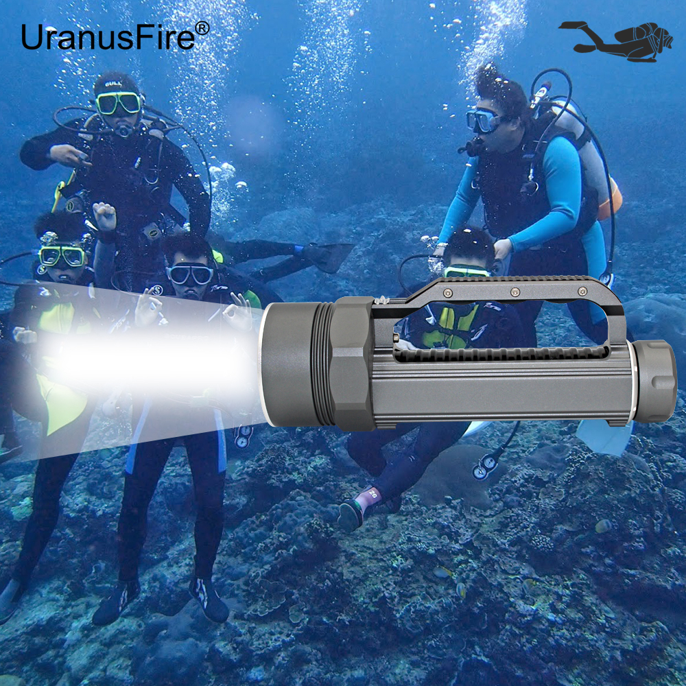 Diving Flashlight 4x Cree XM-L2 LED Flashlight Underwater Torch Waterproof Diver Light 4800 Lumens 26650 Lanterna led diving flashlight torch 100m underwater light diver light 5 x cree xml l2 8000 lumens scuba lanterna with 18650 battery