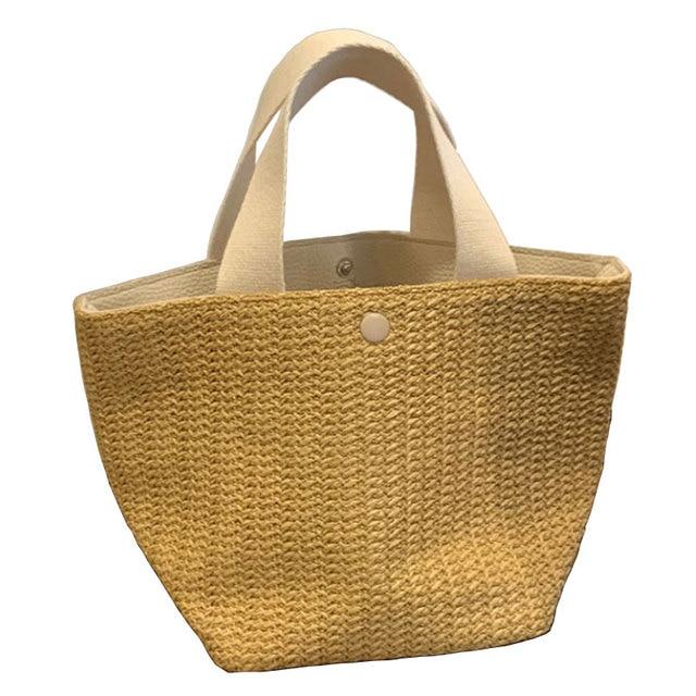 NEW Capacity Straw Bags Women Handmade Woven Basket Bolsa Tote Summer Bohemian Beach Bags Luxury Brand canvas Lady Handbags 5