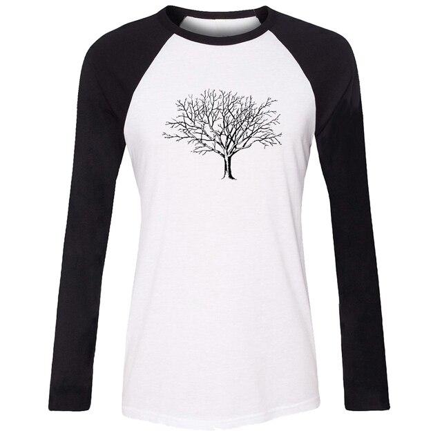 301a115b0d47 iDzn Women T-shirt Tree skeleton graphics Dead limbs and twigs Pattern  Raglan Long Sleeve